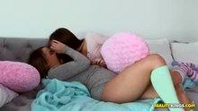 Dillion Harper and Jenna Sativa kissing