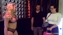 """Kagney Linn Karter in """"Don't Touch Her!"""" - man fucks a stripper in front of his withholding wife"""