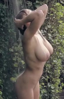 Viola Bailey outdoor shower