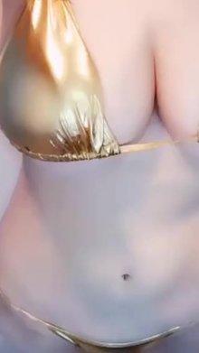 Anri Okita in Gold