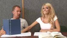 Kayla in class