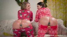 Allie Haze & Harley Jade Shake Their Plugged Asses