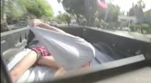 Fucking Adria Rae on a pickup truck bed
