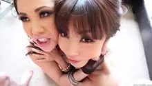 London Keyes and Marica Hase Double Cumshot