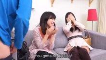 CFNM Japanese friend watches surprise blowjob