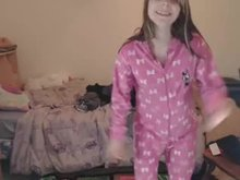 Stripping Out of a Onesie