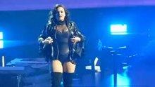 Demi Lovato walking away