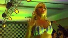Ana Paula Minerato lifting her skirt