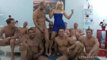 Italian MILF Vittoria Dolce gangbanged by 10 men.