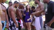 Casey Calvert fucks a room full of black guys.