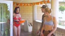 Khloe Kapri and her BF get a treat from Dana DeArmond