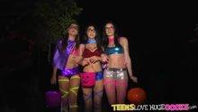 Three Hot Asses On Halloween