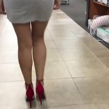 wife walking in a cheap store