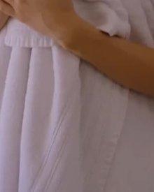 Ariana Marie's slow towel drop seduction