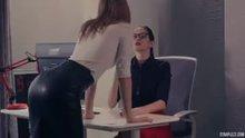 taking off her boss's heels