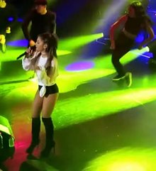 Ariana Grande butt on stage
