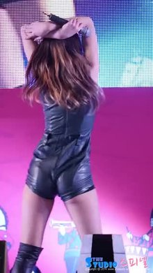 Kpop woman Seolhyun shows off