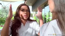 "Kalina Ryu and Morgan Lee, ""Rub N Tug Trainee"""