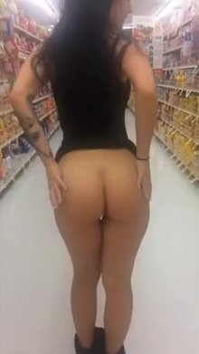 Sneaky butt at the supermarket!