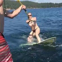 Wonderful water skiing