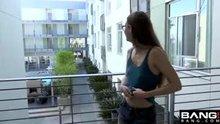 Tali Dova flashes her boobies outisde