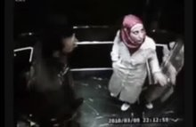 Hijabi getting horny in the elevator