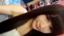 Cute Korean Woman Eye Contact Blowjob