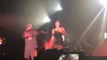 Big boobies bouncing at a show