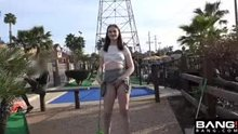 Maya Kendrick shows it all off at the mini golf course