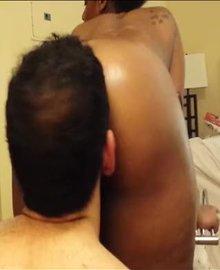 Getting high off her butt
