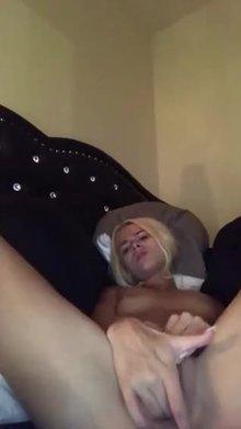 Elsa Jean finishing herself on webcam