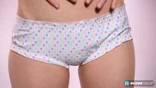 Dolly Little removes her panties