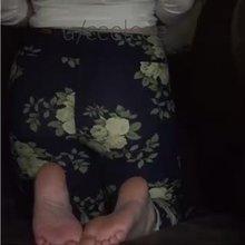 Pulling down my leggings