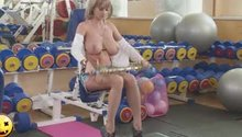 Working out at the Gym