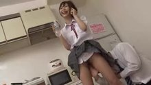 Japanese woman is fingered while on the phone