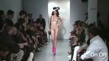 Just a hat and shoes on the runway