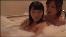 Lesbian Kissing in bath tub