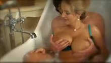 Big blonde tits in the bath II