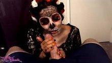 Sugar Skull Sweetheart Using Both Hands