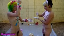 Trailer for part 1 of Audra and Orian sploshing together