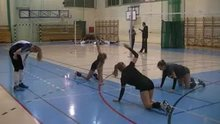 Volleyball Womans Stretching