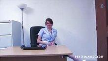 Nurse Flashing her Knickers