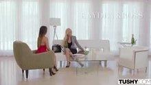 (Tushy) Kayden Kross and Eva Lovia - Kayden focused