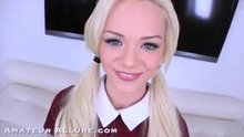 Bubbly blonde Elsa Jean takes care of dick