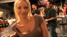 Staci Carr shows her titties in the bar