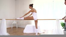 Petite ballerina gets fucked and receiving load on her body