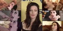 Stoya getting her face cummed on 6 times