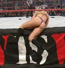 Trish Stratus on the ring