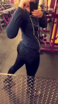 Quick gym selfie